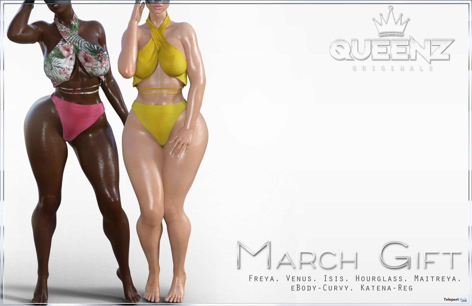 Top & Panties March 2018 Group Gift by QUEENZ - Teleport Hub - teleporthub.com
