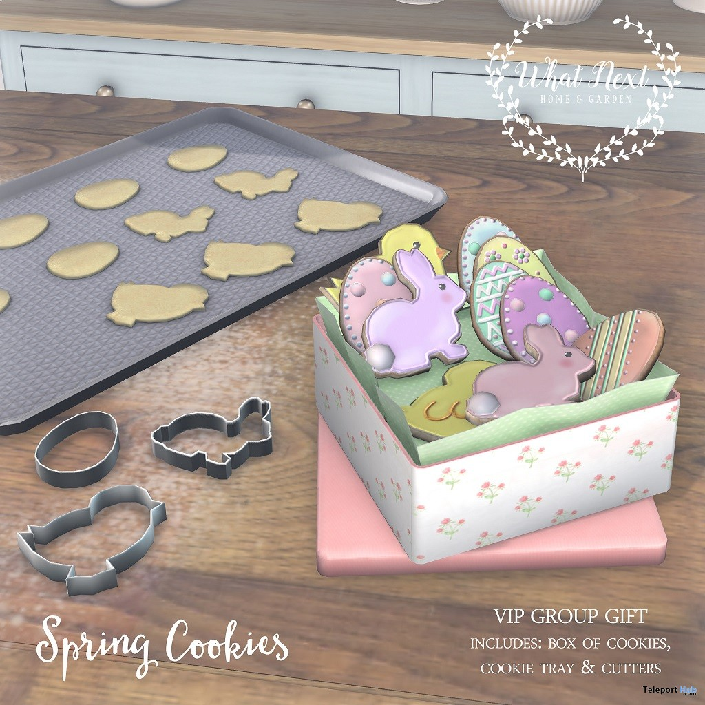 Spring Cookies March 2018 Group Gift by What Next - Teleport Hub - teleporthub.com