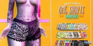 OMG Shorts Fatpack April 2018 Group Gift by Moon Amore - Teleport Hub - teleporthub.com