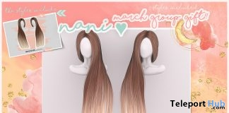 Nani Hair Fatpack March 2018 Group Gift by MOON - Teleport Hub - teleporthub.com