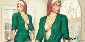 Green Romper Outfit & Handbag March 2018 Group Gift by LS Diamond - Teleport Hub - teleporthub.com