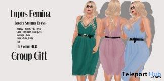 Brooke Summer Dress March 2018 Group Gift by Lupus Femina - Teleport Hub - teleporthub.com