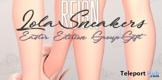 Lola Sneakers Easter Edition April 2018 Group Gift by REIGN - Teleport Hub - teleporthub.com