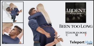 Been Too Long Couple Poses April 2018 Group Gift by Ardent Poses - Teleport Hub - teleporthub.com