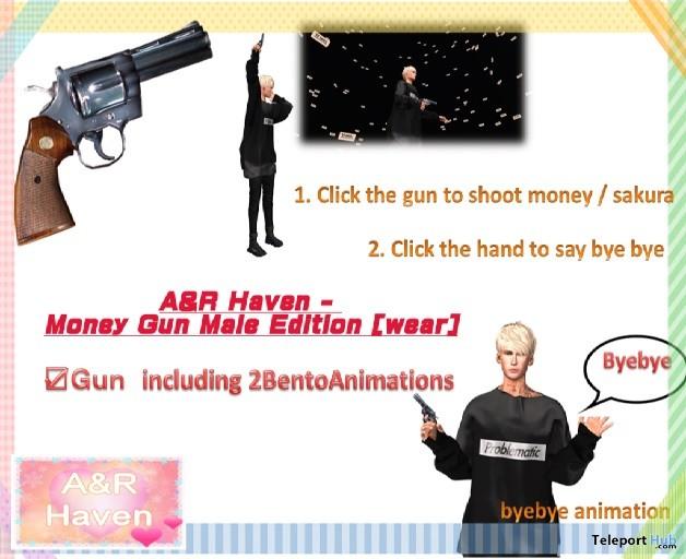 Money Gun Male Edition Teleport Hub Group Gift by A&R Haven - Teleport Hub - teleporthub.com