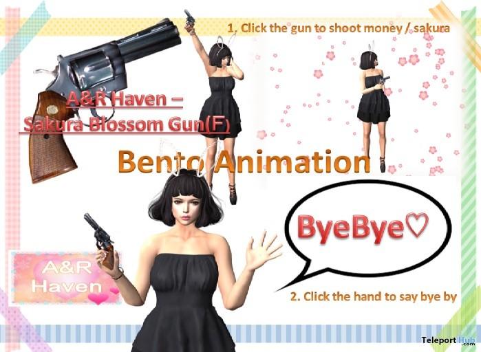 Sakura Blossom Gun Female Edition Teleport Hub Group Gift by A&R Haven - Teleport Hub - teleporthub.com