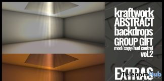 Abstract Backdrops Vol 2 March 2018 Group Gift by KraftWork - Teleport Hub - teleporthub.com