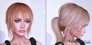 Green Tea Hair Fatpack April 2018 Group Gift by Navy & Copper - Teleport Hub - teleporthub.com