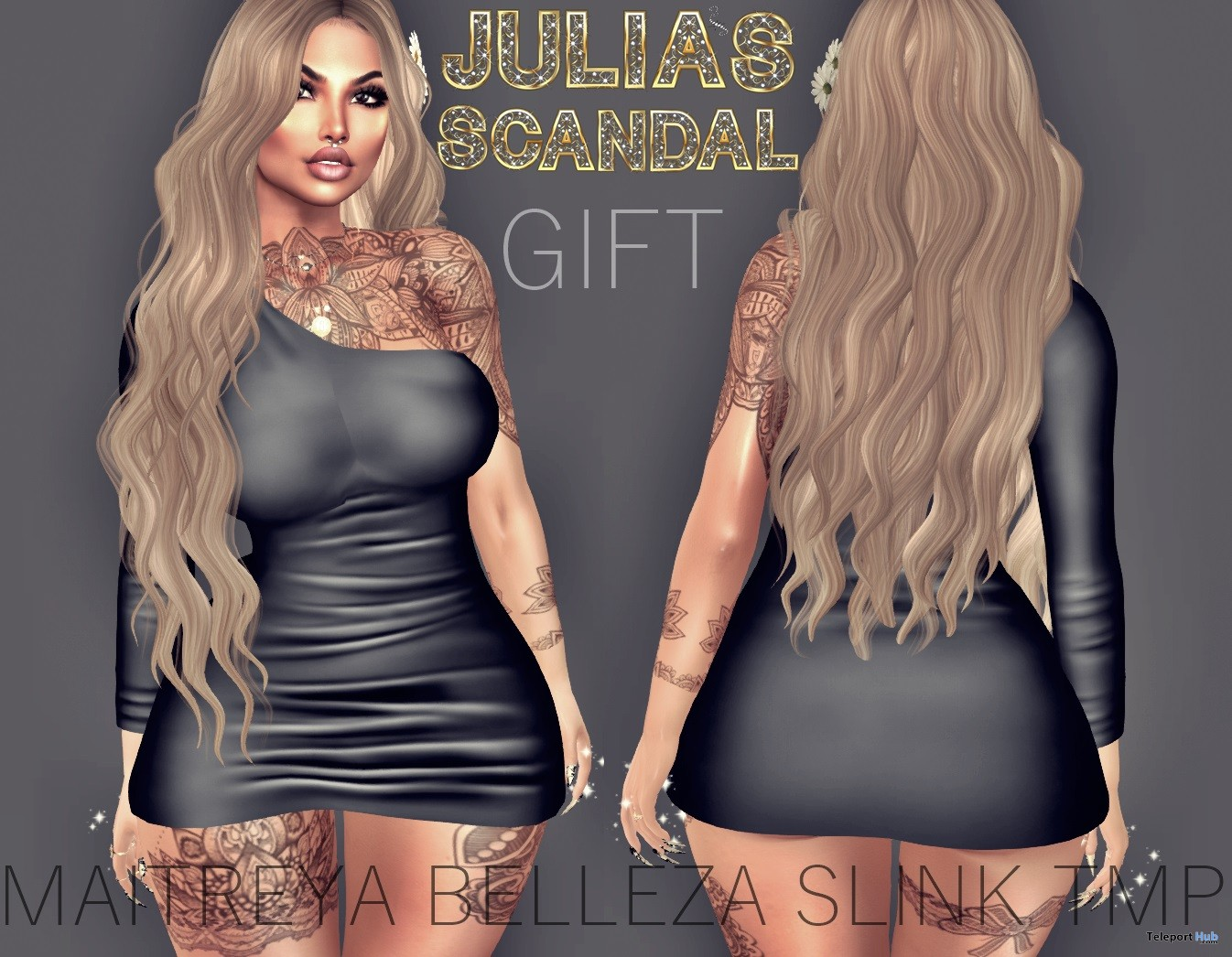 Irma Dress March 2018 Group Gift by Julia's Scandal - Teleport Hub - teleporthub.com