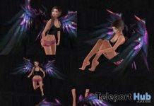 Falling Angel Pose Pack With Wings March 2018 Gift by Reina Photography - Teleport Hub - teleporthub.com
