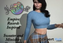 Empire Records Sweater and Miniskirt April 2018 Group Gift by JellyRoll - Teleport Hub - teleporthub.com