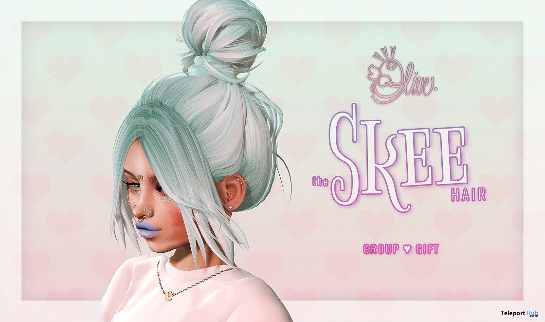 Skee Hair April 2018 Group Gift by Olive Hair - Teleport Hub - teleporthub.com