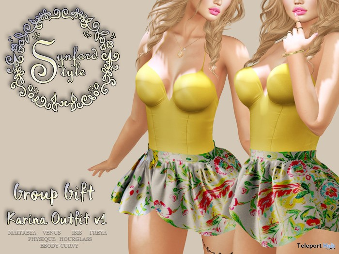 Karina Outfit V1 April 2018 Group Gift by Synford Style - Teleport Hub - teleporthub.com