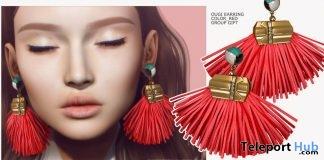 Ougi Earrings Red & Ohajiki Earrings Green April 2018 Group Gift by MANDALA - Teleport Hub - teleporthub.com