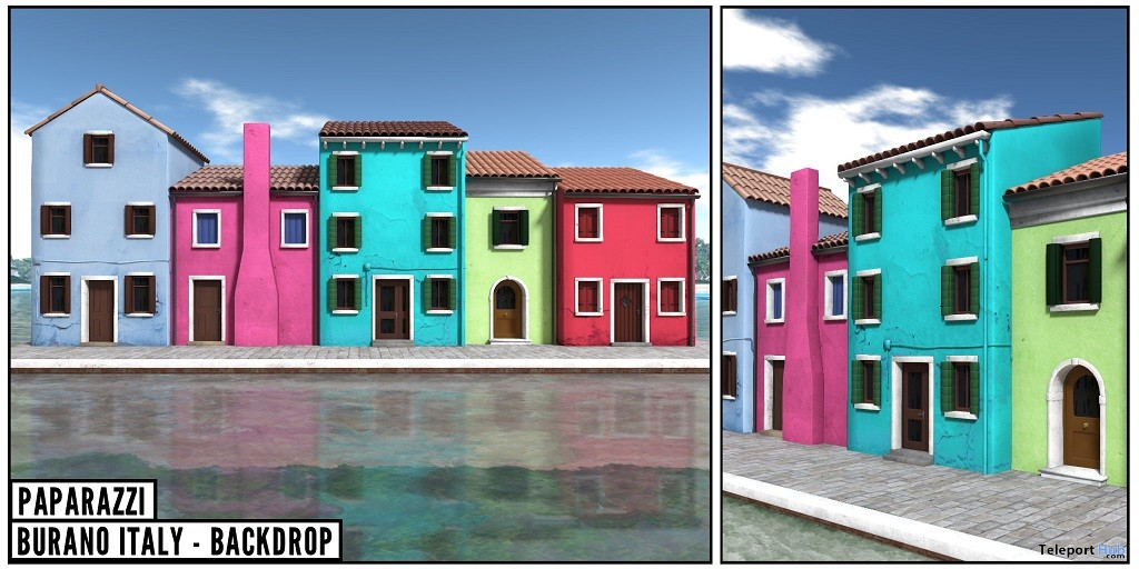 New Release: Burano Italy Backdrop by Paparazzi @ Shiny Shabby April 2018 - Teleport Hub - teleporthub.com