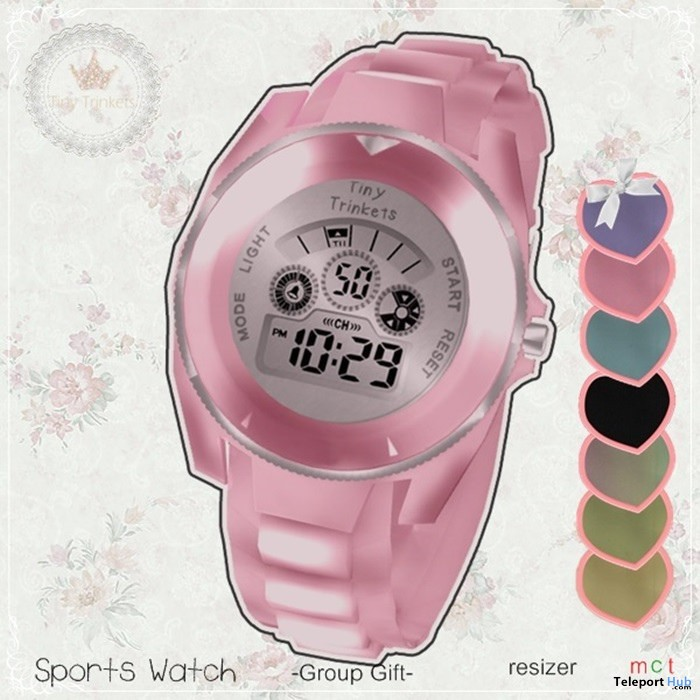 Sport Watch April 2018 Group Gift by Tiny Trinkets - Teleport Hub - teleporthub.com