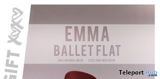Emma Ballet Flat April 2018 Group Gift by Enchante' - Teleport Hub - teleporthub.com