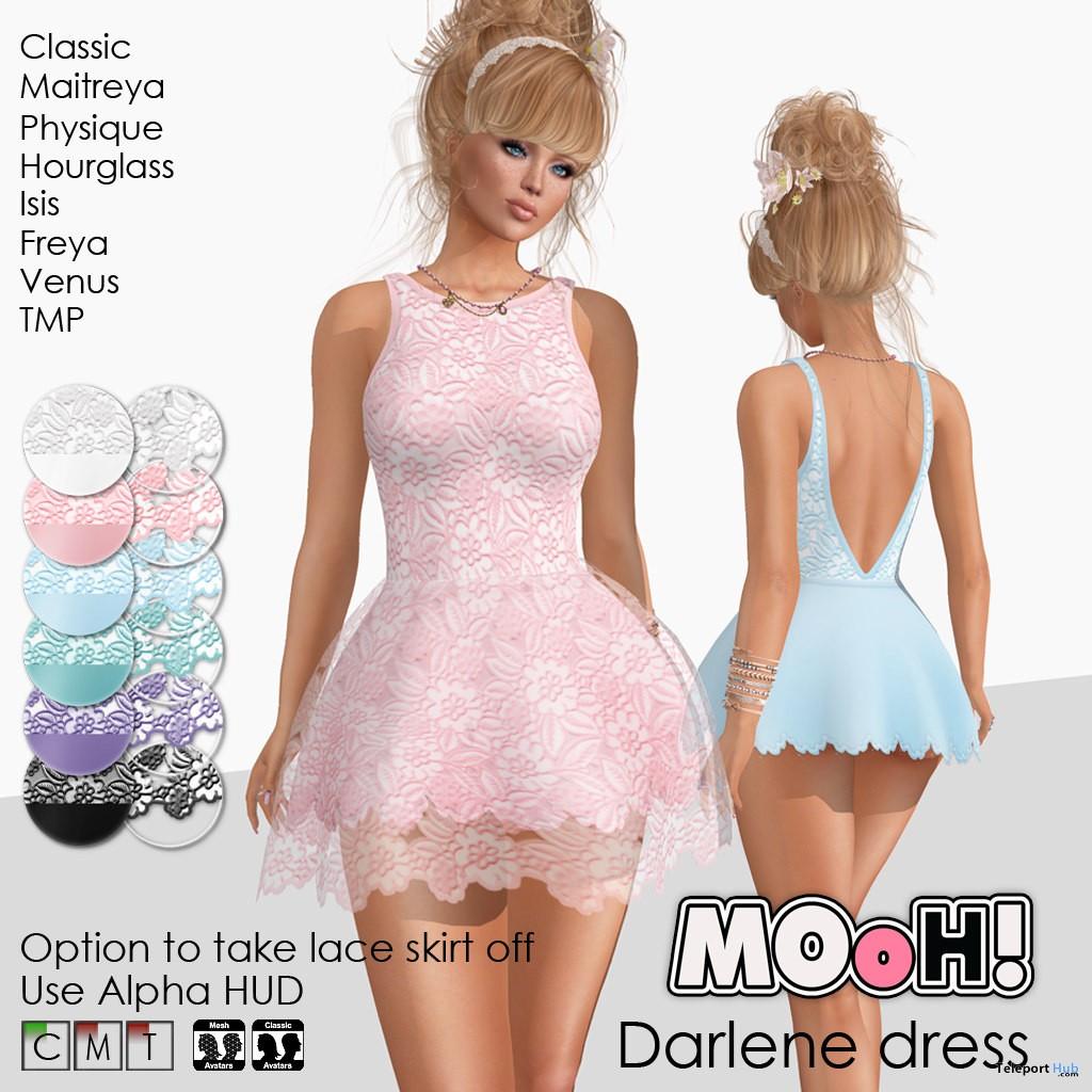 Darlene Dress April 2018 Group Gift by MOoH! - Teleport Hub - teleporthub.com