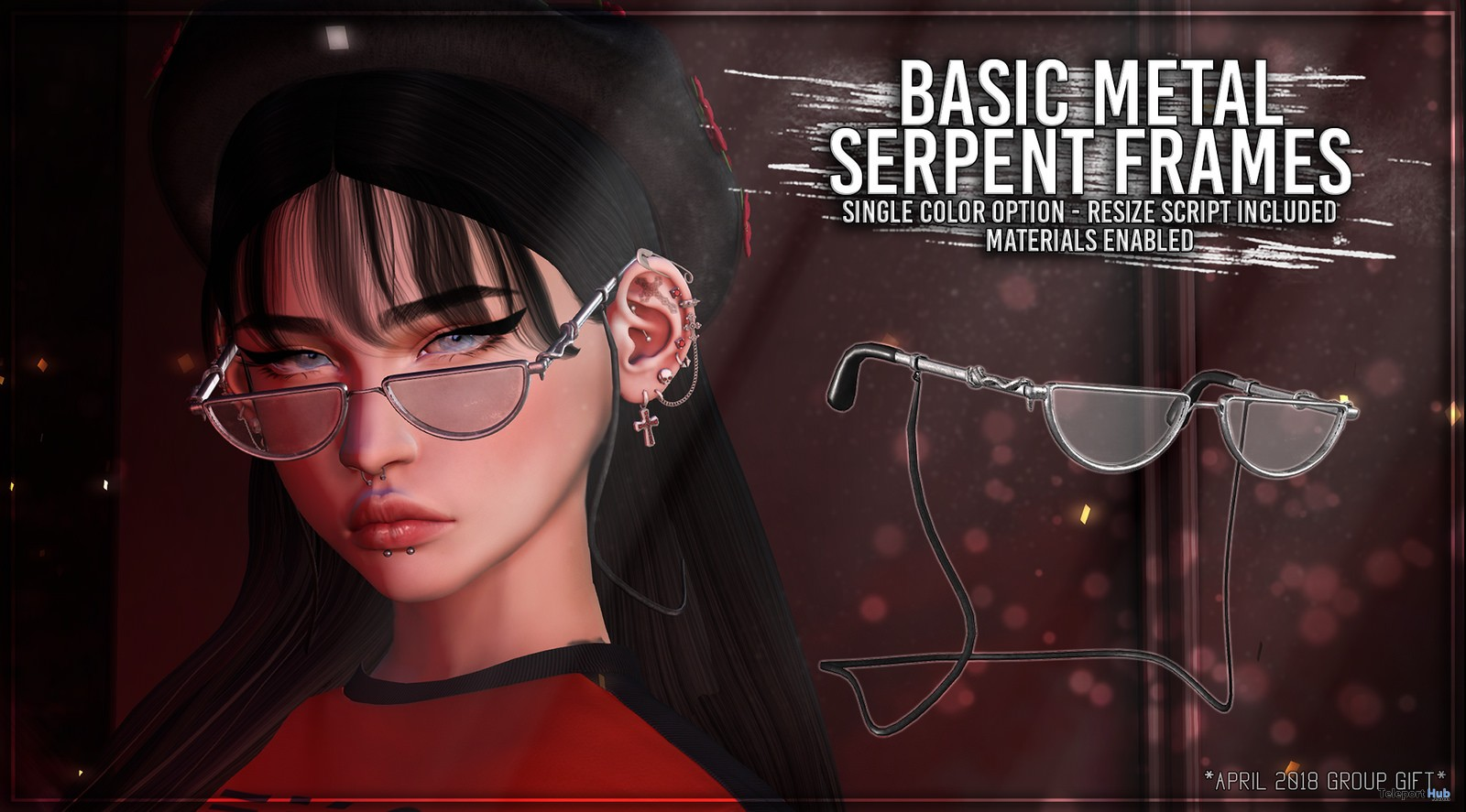 Basic Metal Serpent Frames April 2018 Group Gift by Asteroidbox - Teleport Hub - teleporthub.com