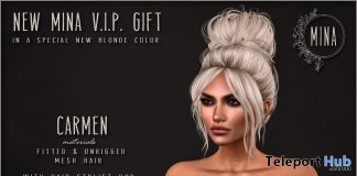 Carmen Hair With Special New Blonde Color April 2018 Group Gift by MINA Hair - Teleport Hub - teleporthub.com
