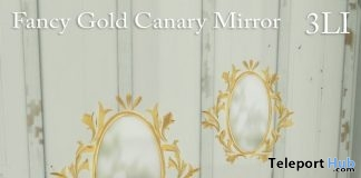 Fancy Canary Gold Mirror With HUD April 2018 Group Gift by celeste.sanct - Teleport Hub - teleporthub.com