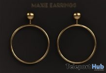 Maxie Earrings April 2018 Group Gift by MICHAN - Teleport Hub - teleporthub.com