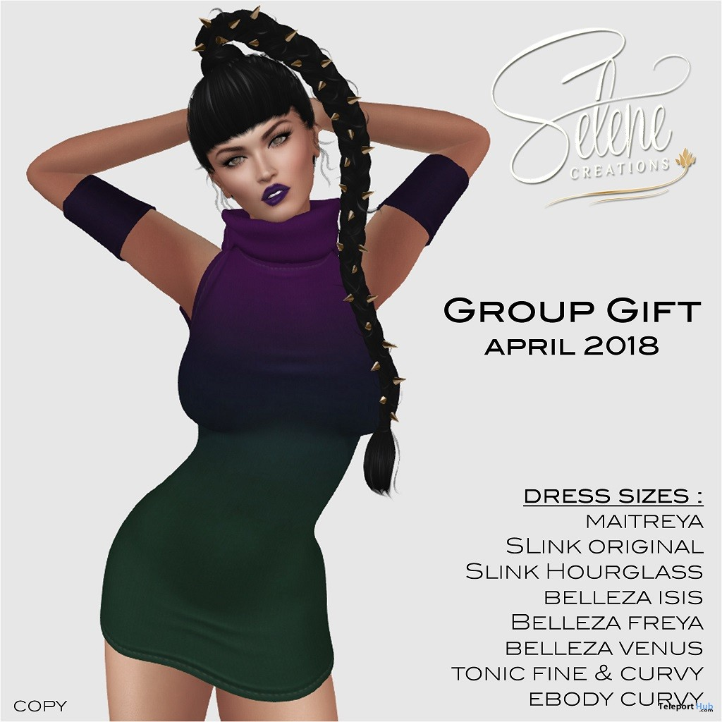 Gradient Dress April 2018 Group Gift by Selene Creations - Teleport Hub - teleporthub.com