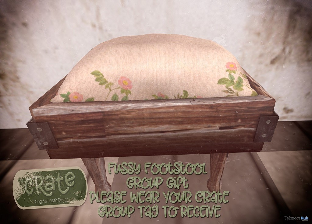 Fussy Footstool April 2018 Group Gift by crate - Teleport Hub - teleporthub.com