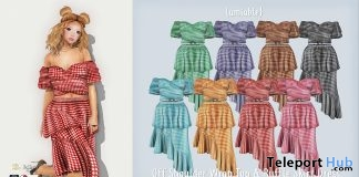 Off Shoulder Wrap Top & Ruffle Skirt Dress Promo by {amiable} @ N21 April 2018 - Teleport Hub - teleporthub.com