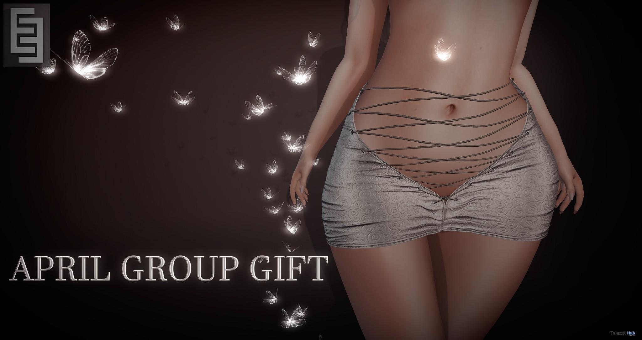 Skirt V1 Beige April 2018 Group Gift by Elven Elder - Teleport Hub - teleporthub.com