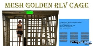 Golden RLV Cage May 2018 Group Gift by Carissa Design - Teleport Hub - teleporthub.com