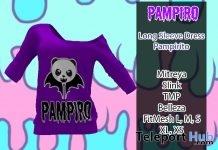 Long Sleeve Dress April 2018 Group Gift by Pampiro - Teleport Hub - teleporthub.com