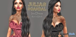 Iris Dress April 2018 Group Gift by Julia's Scandal - Teleport Hub - teleporthub.com