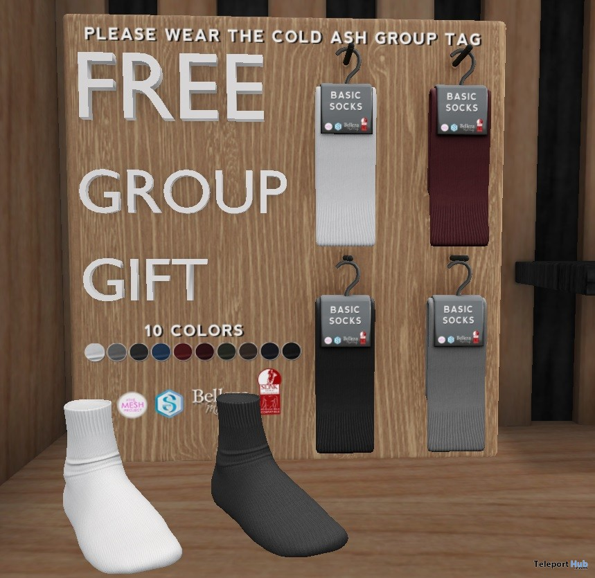 Basic Socks Group Gift by Cold Ash @ The Men Dept April 2018 - Teleport Hub - teleporthub.com
