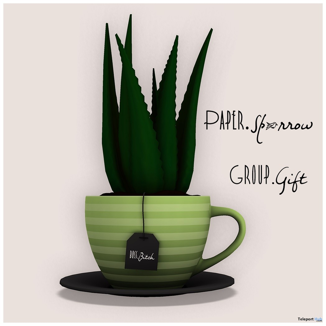 Aloe Cup April 2018 Group Gift by Paper.Sparrow - Teleport Hub - teleporthub.com