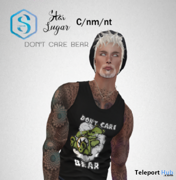 Don't Care Bear Tank Top For Signature Body April 2018 Gift by Star Sugar - Teleport Hub - teleporthub.com