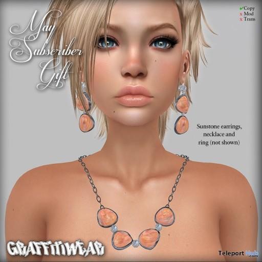 Sunstone Jewelry Set May 2018 Subscriber Gift by Graffitiwear - Teleport Hub - teleporthub.com