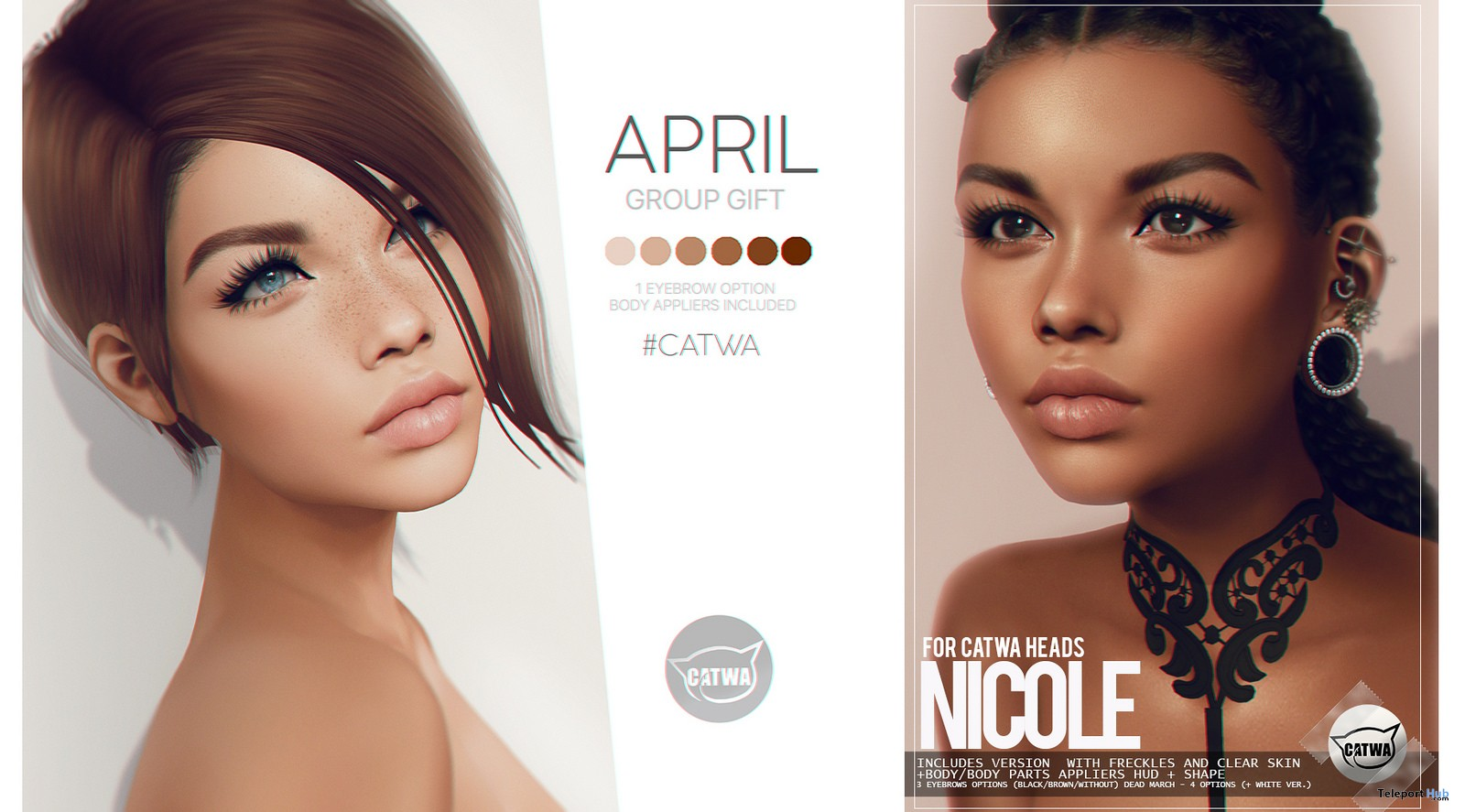 Nicole Skin Fatpack April 2018 Group Gift by PUMEC - Teleport Hub - teleporthub.com