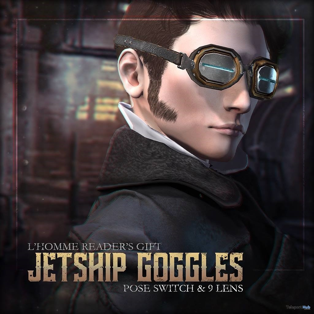 Jetship Goggles L'HOMME Magazine May 2018 Group Gift by ContraptioN - Teleport Hub - teleporthub.com