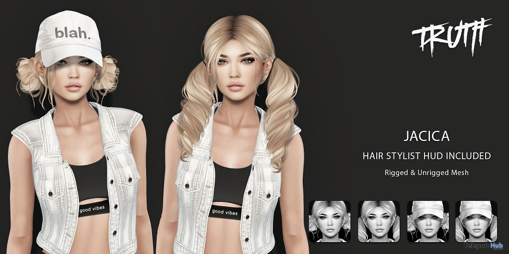 Jacica Hair May 2018 Group Gift by TRUTH HAIR - Teleport Hub - teleporthub.com