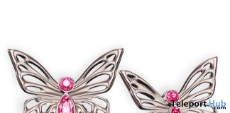 Mariposa Stud Earrings May 2018 Group Gift by Cae - Teleport Hub - teleporthub.com