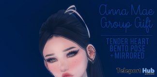 Tender Heart Bento Poses & Mirrored Version May 2018 Group Gift by Anna Mae - Teleport Hub - teleporthub.com