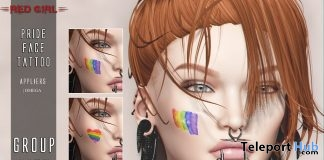 Pride Face Tattoo May 2018 Group Gift by Red Girl Tattoo - Teleport Hub - teleporthub.com