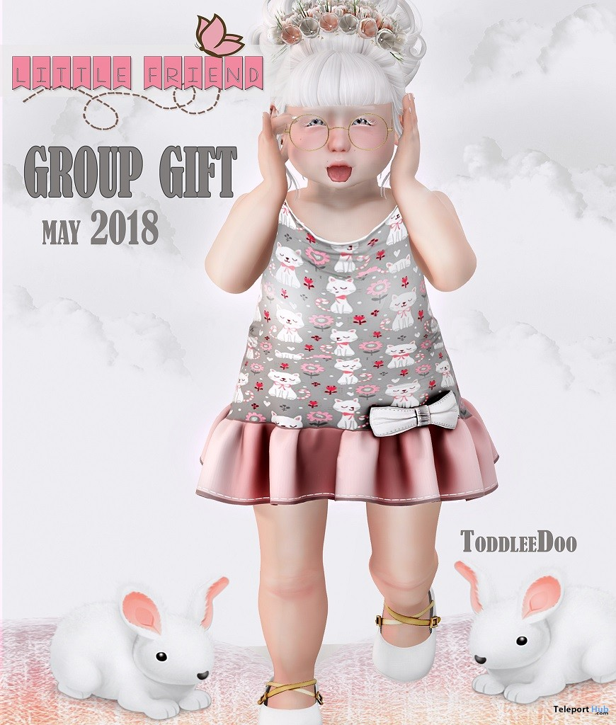 Kitten Dress For ToddleeDoo Body May 2018 Group Gift by Little Friend Clothes - Teleport Hub - teleporthub.com