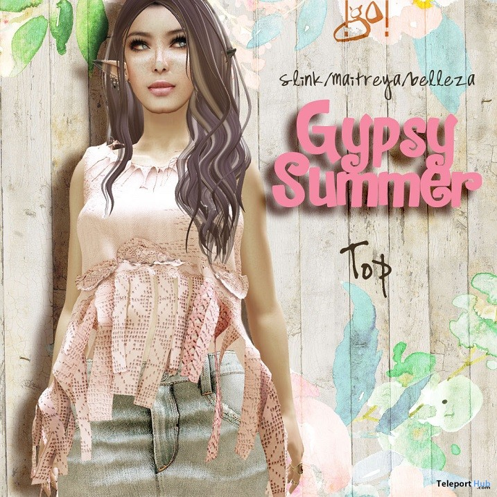 Gypsy Summer Top May 2018 Group Gift by !gO! - Teleport Hub - teleporthub.com