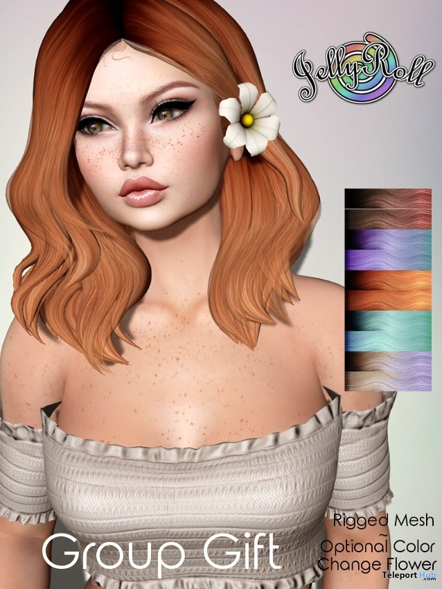 Alice Exclusives Hair May 2018 Group Gift by JellyRoll - Teleport Hub - teleporthub.com