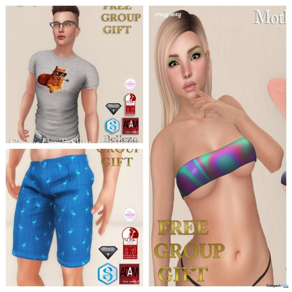 T-Shirt, Shorts, & Top May 2018 Group Gifts by Crazy Sexy - Teleport Hub - teleporthub.com