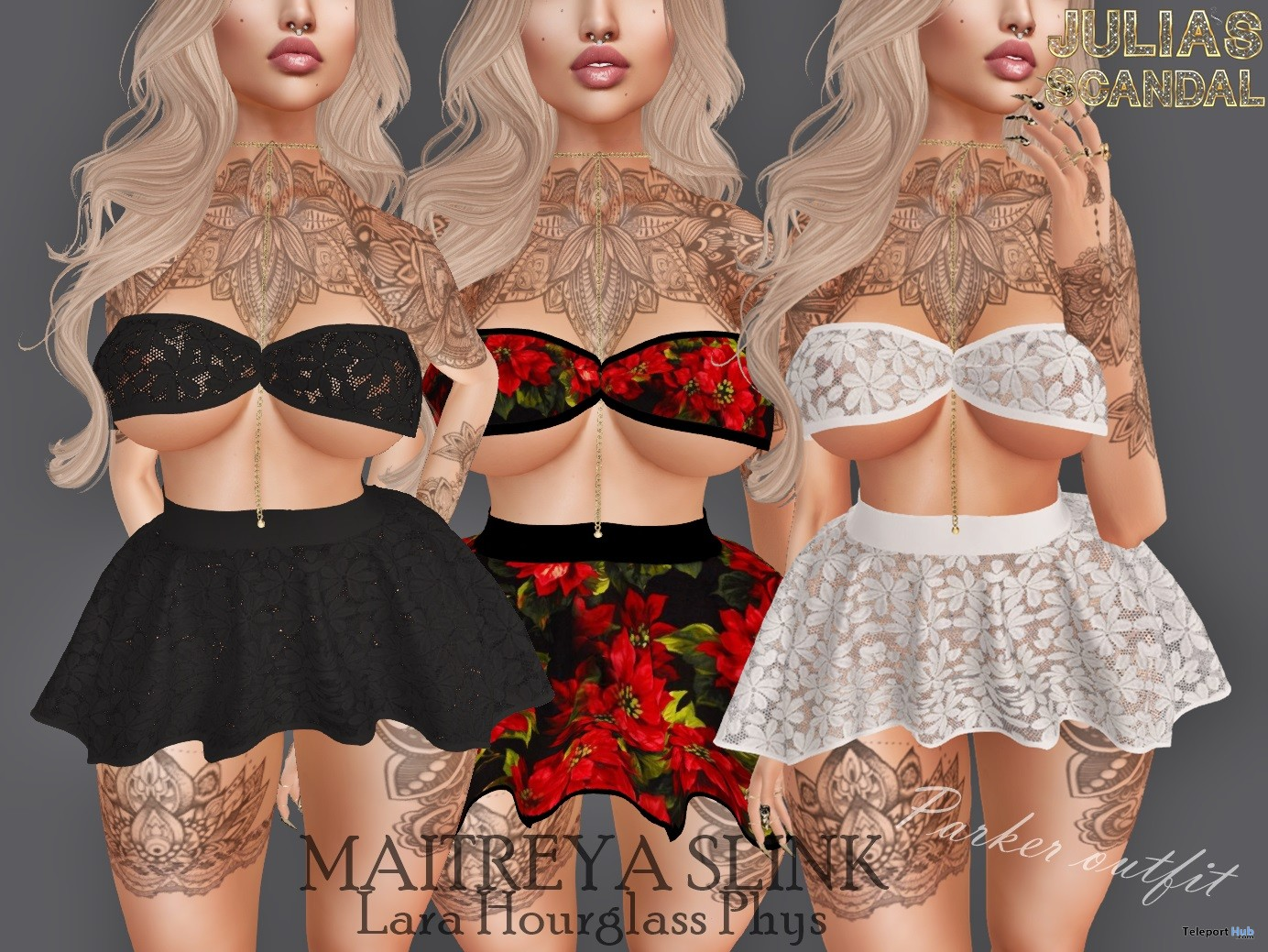 Parker Top & Skirt May 2018 Group Gift by Julia's Scandal - Teleport Hub - teleporthub.com