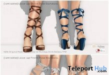 Lace-up Back Bow Sandals 50% Off Sale Promo by {amiable} - Teleport Hub - teleporthub.com