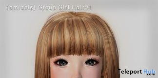 Short Hair 01 May 2018 Group Gift by {amiable} - Teleport Hub - teleporthub.com